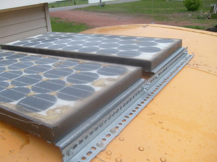 Mounting Securing Solar Panels On Roof School Bus